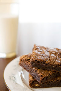 Theresa Sullivan's Peanut Butter Brownie Recipe